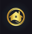 house icon business gold logo vector image vector image