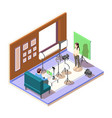 isometric vlogging composition vector image
