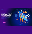 know your customer web banner vector image vector image