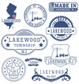 Lakewood township New Jersey stamps and seals vector image vector image