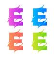 letter e logo template design vector image vector image