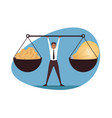 management balance leadership business concept vector image vector image