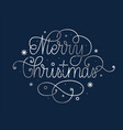 merry christmas grunge retro silver greeting card vector image