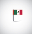 mexico flag pin vector image