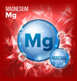mg magnesium mineral blue pill icon vector image vector image