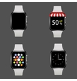 modern realistic smart watch set vector image