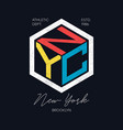 nyc design for t-shirt new york brooklyn vector image vector image
