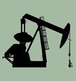 Pump jack sihouette vector image