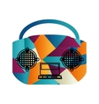 radio old isolated icon vector image
