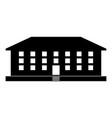 school building icon black color flat style vector image vector image