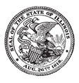 seal state illinois 1818 vintage vector image vector image