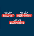 set of discrimination racism and harassment label vector image