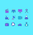 set simple line icons tv vector image vector image