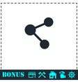 Share icon flat vector image vector image