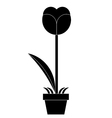 silhouette of Flower vector image vector image
