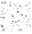 silver glitter falling stars silver sparkle star vector image