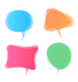 speech bubbles icon dialog box info vector image