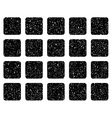 Square Grid Grainy Texture Icon vector image