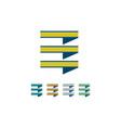 Square stripe logo