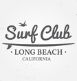 surfing concept for shirt or logo print stamp vector image vector image