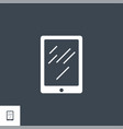 tablet pc related glyph icon vector image vector image