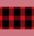 tartan plaid pattern in red print fabric texture vector image vector image
