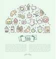 thin line of tea tea vector image vector image