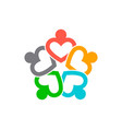 three business heart people conference in circle vector image vector image