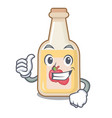 thumbs up apple cider isolated with mascot vector image vector image