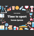 time to sport flat poster vector image