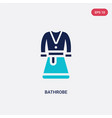 two color bathrobe icon from hotel concept vector image vector image
