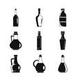 vinegar bottle icons set simple style vector image