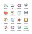 vpn and networking icons vector image vector image