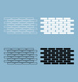 wall set icons the black and white color icon vector image