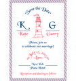 Wedding Marine Invitation Card vector image vector image