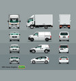white color car in three positions four vector image vector image