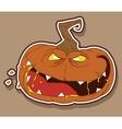 wicked pumpkin vector image vector image