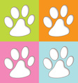 Animal paw colourful vector image