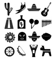 Mexico icons set vector image