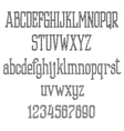 Retro font alphabet and numbers in sketch style vector image