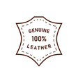 100 percent genuine leather logo icon vector image