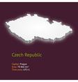 3d map czech republic vector image