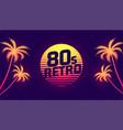 80s retro tropical gradient background vector image vector image