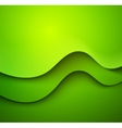 Abstract colorful green waved background vector image