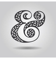 Abstract textured ampersand icon on gray gradient vector image vector image