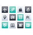 airport travel and transportation icons 1 vector image