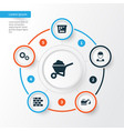 architecture icons set collection of carry cart vector image vector image