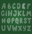awesome sketch chalk alphabet on blackboard vector image vector image