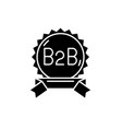b2b black icon sign on isolated background vector image vector image
