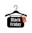 black friday inscription design template sale vector image